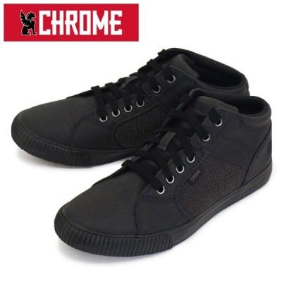 CHROME (クローム クロム) FW-163 SOUTHSIDE 2.0 サウスサイド ミッドカット スニーカー BLACK/BLACK CH205