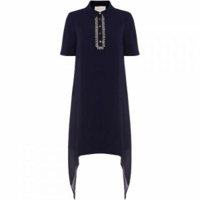 ダンセル Damsel in a Dress レディース ワンピース ワンピース・ドレス Rosanna Embellished Tunic Shirt Dress Navy