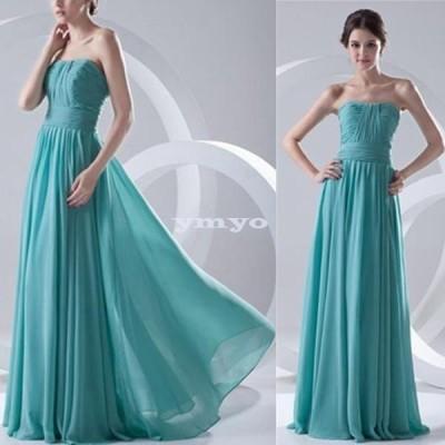 ドレス レディース パーティードレス ロングドレス ベアトップ フレアスカート シフォン Aライン 大きいサイズ ポイント消化