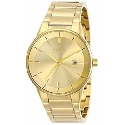 Invicta Mens 29476 Specialty Quartz 3 Hand Gold Dial Watch