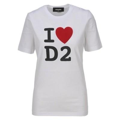 ディースクエアード レディース Tシャツ トップス Dsquared2 I Love D2 Print T-Shirt -