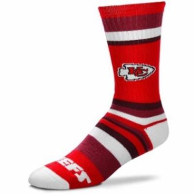 For Bare Feet フォー ベア フィート スポーツ用品  For Bare Feet Kansas City Chiefs Rainbow Stripe Tri-Blend Crew S
