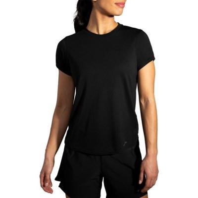 ブルックス Brooks レディース トップス Sports Distance Short Sleeve Shirt Black