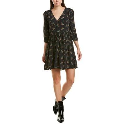 バッシュ ワンピース トップス レディース ba&sh Flower A-Line Dress black