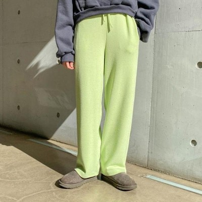 VANILLAMILK レディース パンツ Cover Banding Loose Fit Wide Pants