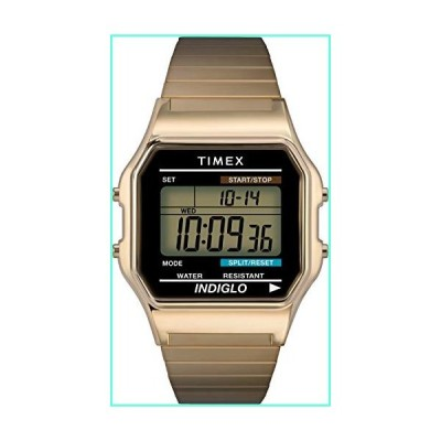 Timex Men's T78677 Classic Digital Gold-Tone Stainless Steel Expansion Band Watch並行輸入品