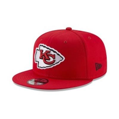 ニューエラ メンズ 帽子 アクセサリー Kansas City Chiefs Basic 9FIFTY Snapback Cap Red