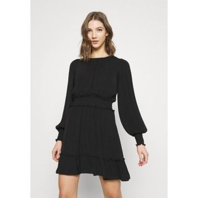 フォーエバー ニュー ワンピース レディース トップス JESSICA LONG SLEEVE SMOCK DRESS - Day dress - black