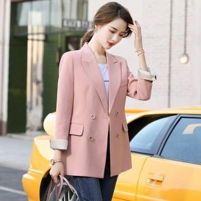 テーラードジャケット レディース ピンク ブラック フォーマル オフィス スーツジャケット 通勤 OL 20代 30代 40代 大きいサイズ ジャケット