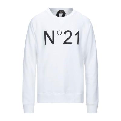 ヌメロ ヴェントゥーノ N°21 スウェットシャツ ホワイト S コットン 100% スウェットシャツ