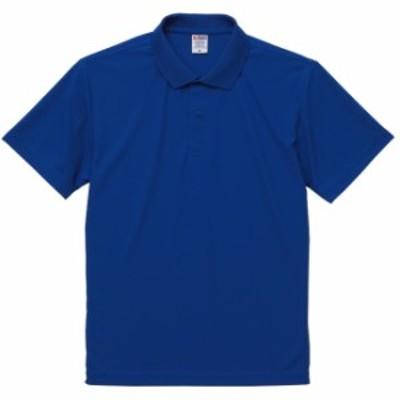 ポロシャツ 半袖 メンズ 鹿の子 ノンブリード スペシャルドライ M サイズ コバルトブルー 無地 ユナイテッドアスレ CAB