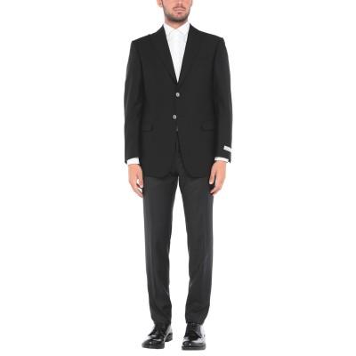 PAL ZILERI CERIMONIA スーツ ブラック 48 スーパー130 ウール スーツ