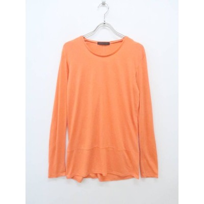 CROON A SONG(クルーンアソング)ロングスリーブミドルTシャツ 長袖 オレンジ レディース A-ランク 46