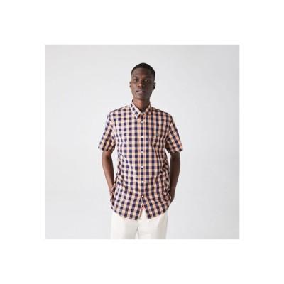 LACOSTE / レギュラーフィットチェックコットンシャツ