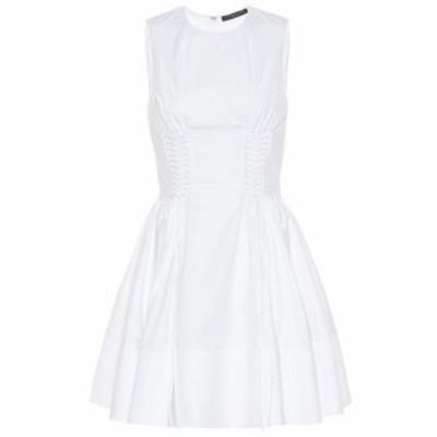 アレキサンダー マックイーン Alexander McQueen レディース ワンピース ワンピース・ドレス Lace-up cotton dress White