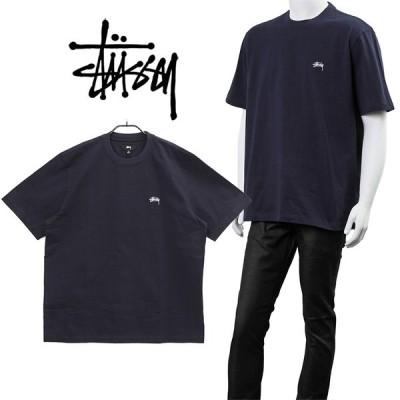 ステューシー STUSSY Tシャツ STOCK LOGO SS CREW 1140241-NAVY