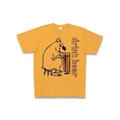 酒飲みシロクマ Tシャツ(コーラルオレンジ)