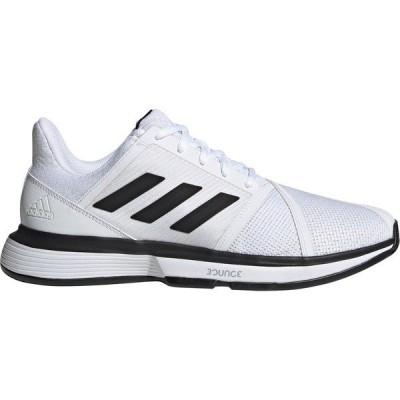 アディダス シューズ メンズ テニス adidas Men's CourtJam Bounce Tennis Shoes White/Black