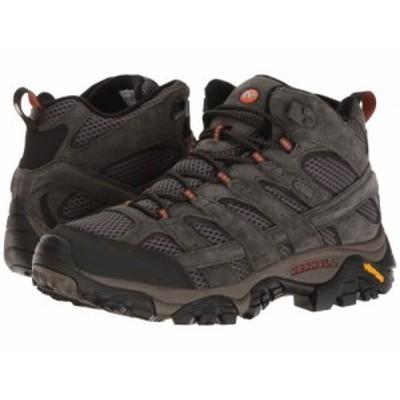 Merrell メレル メンズ 男性用 シューズ 靴 ブーツ ハイキング トレッキング Moab 2 Mid Waterproof Beluga【送料無料】