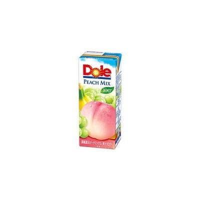 Dole ドール ピーチミックス100% 200ml紙パック 18本入 (果汁100%)