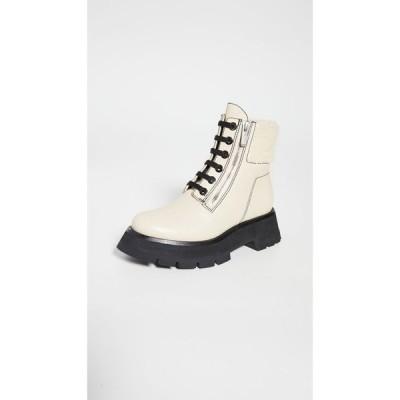スリーワン フィリップ リム 3.1 Phillip Lim レディース ブーツ シューズ・靴 Kate Lug Sole Double Zip Shearling Boots Creme Brulee
