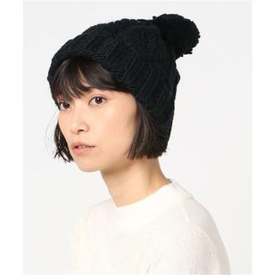 帽子 キャップ 【milsa】Cable Knit Watch / 【ミルサ】ケーブル ニット ワッチ オーバーライド
