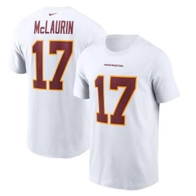 ナイキ メンズ Tシャツ トップス Terry McLaurin Washington Football Team Nike Player Name & Number T-Shirt White