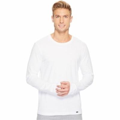 ハンロ Hanro メンズ トップス Living Long Sleeve Crew Neck Shirt White