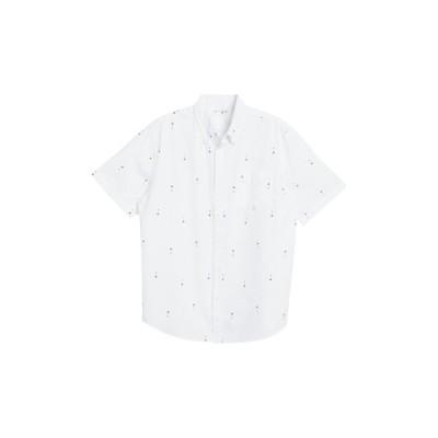 ジョーフレッシュ メンズ シャツ トップス Palm Tree Print Short Sleeve Shirt WHITE
