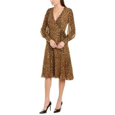 ジェイゴッドフライ ワンピース トップス レディース Jay Godfrey Wrap Dress leopard print tan multi