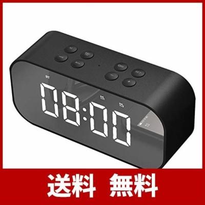 OBEST クロックラジオ デジタル アラーム 目ざまし時計 デジタル Bluetooth 5.0 LED 多機能 音楽放送 三段輝度調整 AUX/T