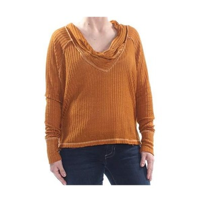 Free People We The Free Wildcat Cowl Neck Thermal Pullover | Cedar | S並行輸入品