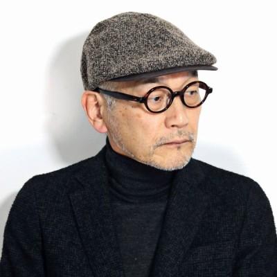 ハンチング帽子 メンズ ハンチング プレゼント 帽子 ブークレ ツイード 冬 ブランド ミラショーン ハンチング 茶色 男性用 ブラウン