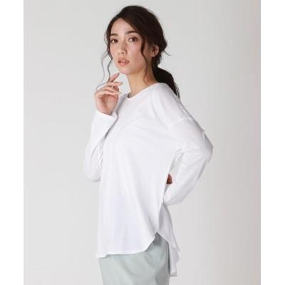 【ロートレ・アモン】 アルビニ 落ち感のある綿100%カットソー レディース ホワイト 9号 LAUTREAMONT