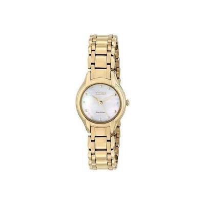 腕時計 シチズン CITIZEN EM0282-56D,Ladies Bracelet,gold tone,Eco-drive,mother of pearl dial,WR