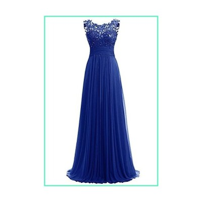 PROMLINK Women's Beaded Chiffon Long Dresses for Wedding Guest Gown,Royal Blue 2並行輸入品