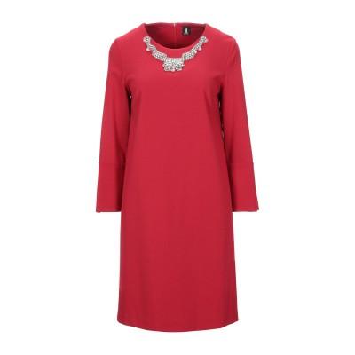 ONE ミニワンピース&ドレス レッド 42 レーヨン 69% / ナイロン 25% / ポリウレタン 6% ミニワンピース&ドレス