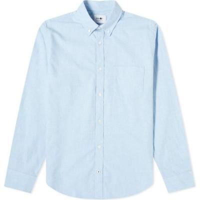 NN07 メンズ シャツ フランネルシャツ トップス Button Down Levon Flannel Shirt Blue