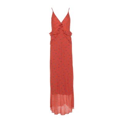 PAOLO CASALINI ロングワンピース&ドレス オレンジ L レーヨン 100% ロングワンピース&ドレス