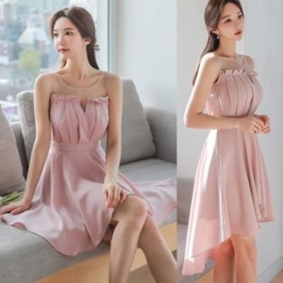 お呼ばれ ワンピース パーティー ドレス 韓国 ファッション レディース  シースル― フィッシュテール オフショルダー ドレス  フェアリ