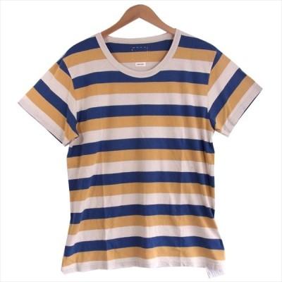 ビズビム VISVIM 0120105010029 BORDER A-LINE TEE S/S ボーダー 半袖 Tシャツ マルチカラー系 4【極上美品】【中古】