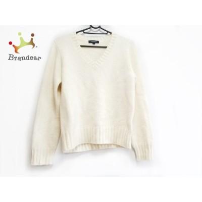バーバリーロンドン 長袖セーター サイズ2 M レディース 美品 - アイボリー Vネック 新着 20200616