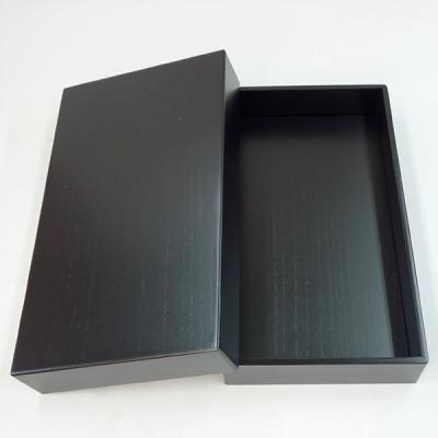 『訳あり』 桐製硯箱 黒 6寸深型 (横幅18cm) 道具箱 整理箱 書道用品