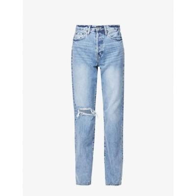 ピストーラ PISTOLA レディース ジーンズ・デニム ボトムス・パンツ Cassie high-rise straight-leg cotton jeans Play Day