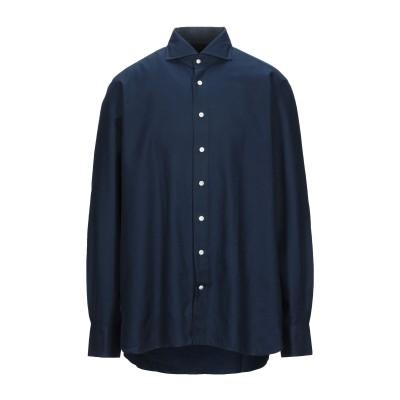 100 HANDS シャツ ダークブルー 44 コットン / ウール シャツ