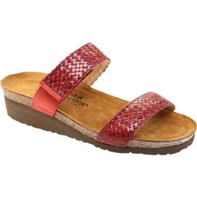 ナオト サンダル シューズ レディース Blake Slide Sandal (Women's) Brick Red Nubuck Leather/Red