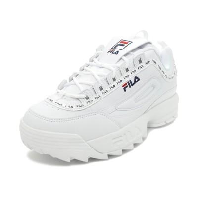 スニーカー フィラ FILA ディスラプター2テイピーテープ ホワイト F0494-1091 メンズ レディース シューズ 靴 20SS
