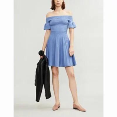 テッドベーカー パーティードレス criptum knitted dress Light blue