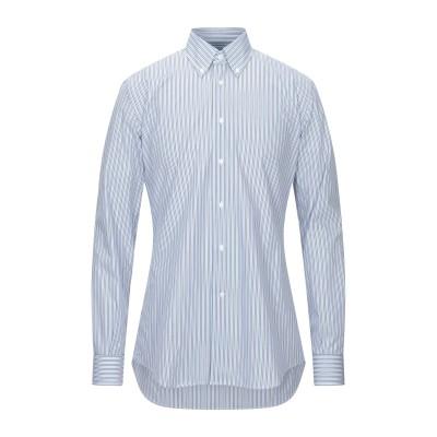 DEL SIENA シャツ アジュールブルー 41 コットン 100% シャツ
