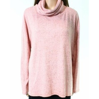 ファッション トップス Dylan NEW Pink Womens Size Small S Cowl Neck Long Sleeve Rib Knit Top